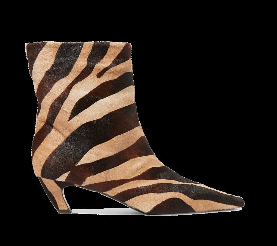 Zebra Stiefelette Katie Holmes Khaite Modepilot