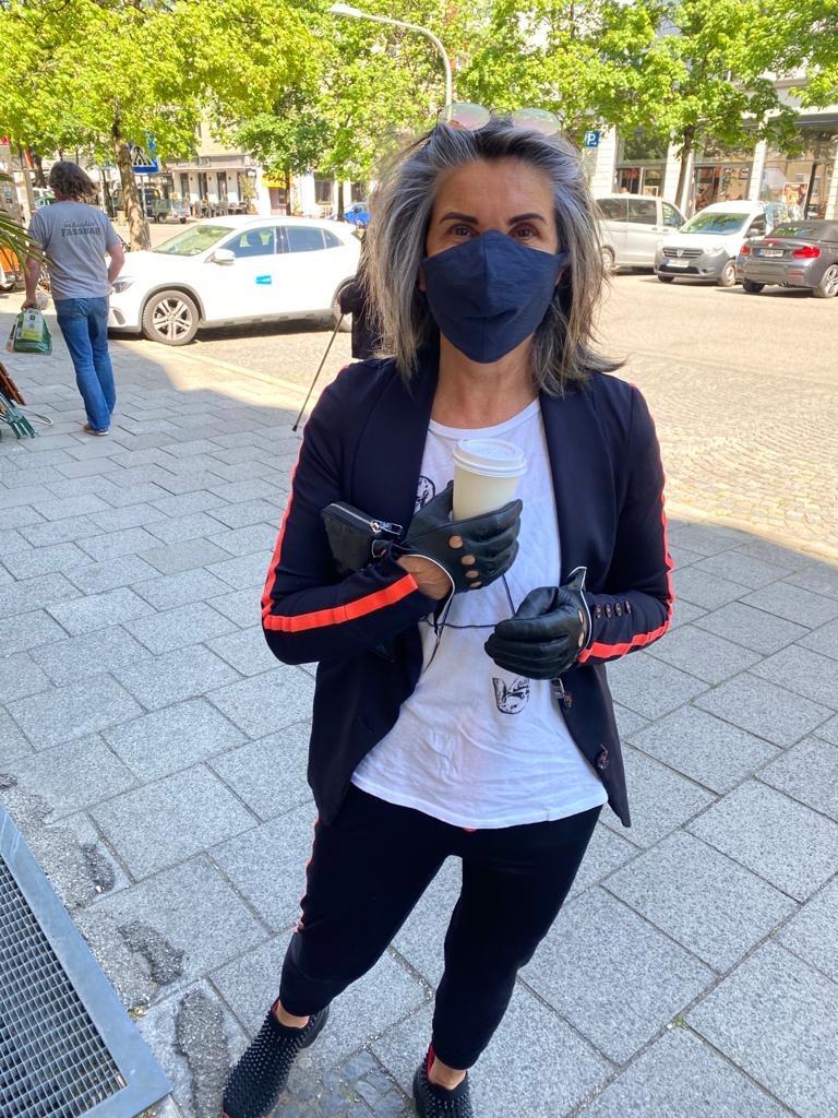 Margit Rüdiger Modepilot Maske Mundschutz