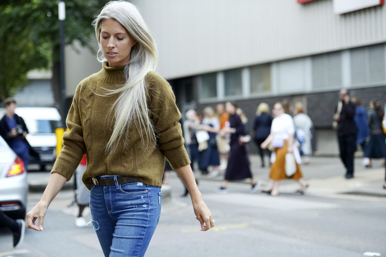 Modepilot graue Haare Anti-aging Haare Sarah Harris