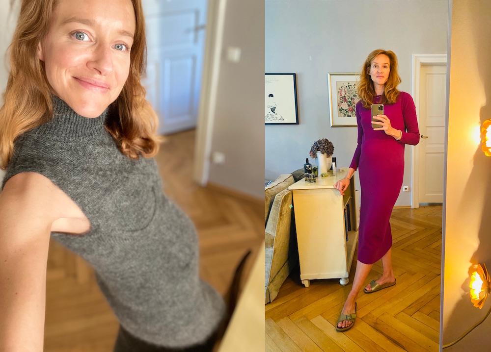 Kaschmirstrick Kleider Schwangerschaft Modepilot Allude Fendi