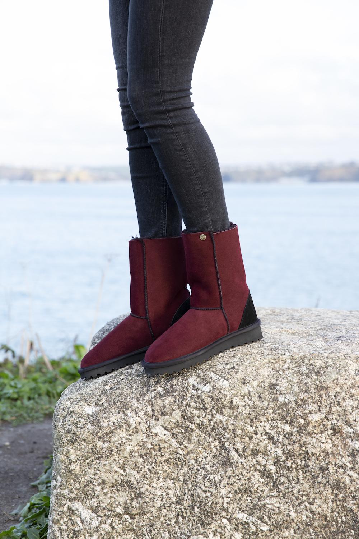 Celt Boots Rot Modepilot Schaffell Celtic Co