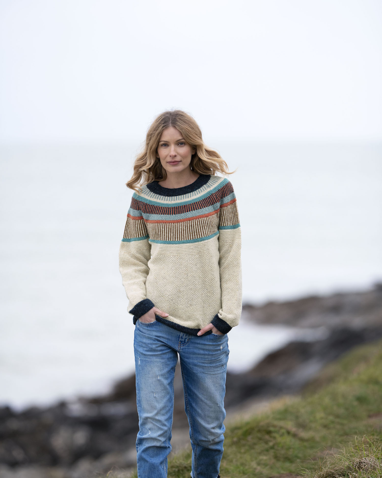 Celtic Co Modepilo Schaffell Wolle Donegal Pullover Modepilot