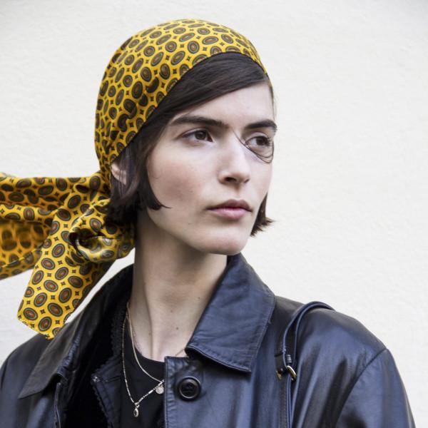 Street Styles mit Kopftuch aus Paris und Mailand