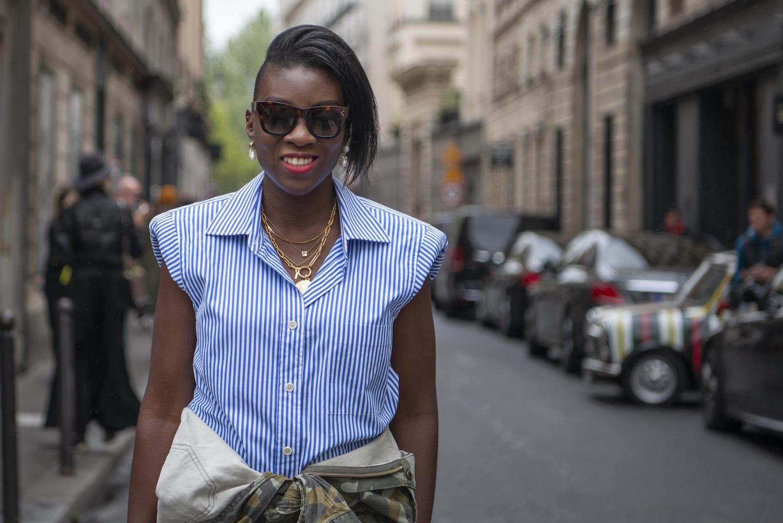 Dries Van Noten shoulder pads blouse Modepilot Street Style