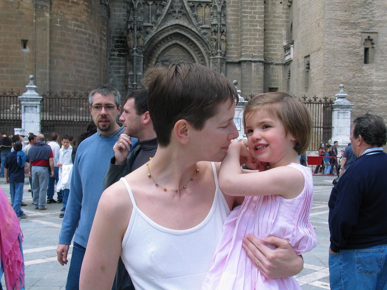 Dana Thomas mit Tochter