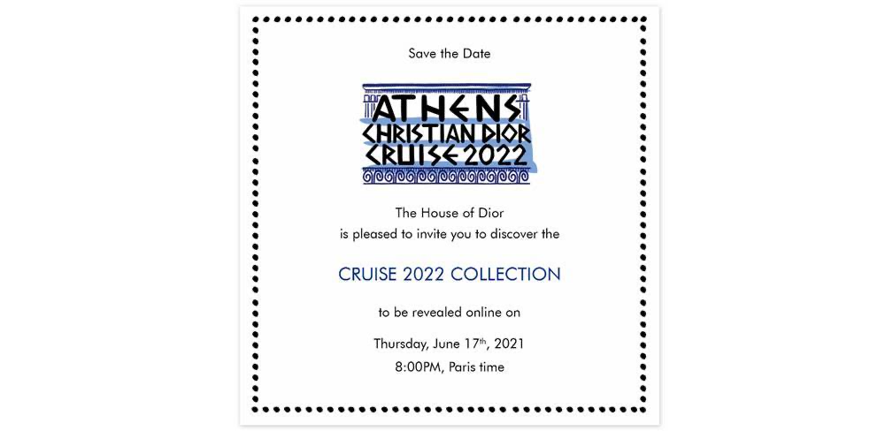 Dior Athen Kollektion Modepilot Einladung