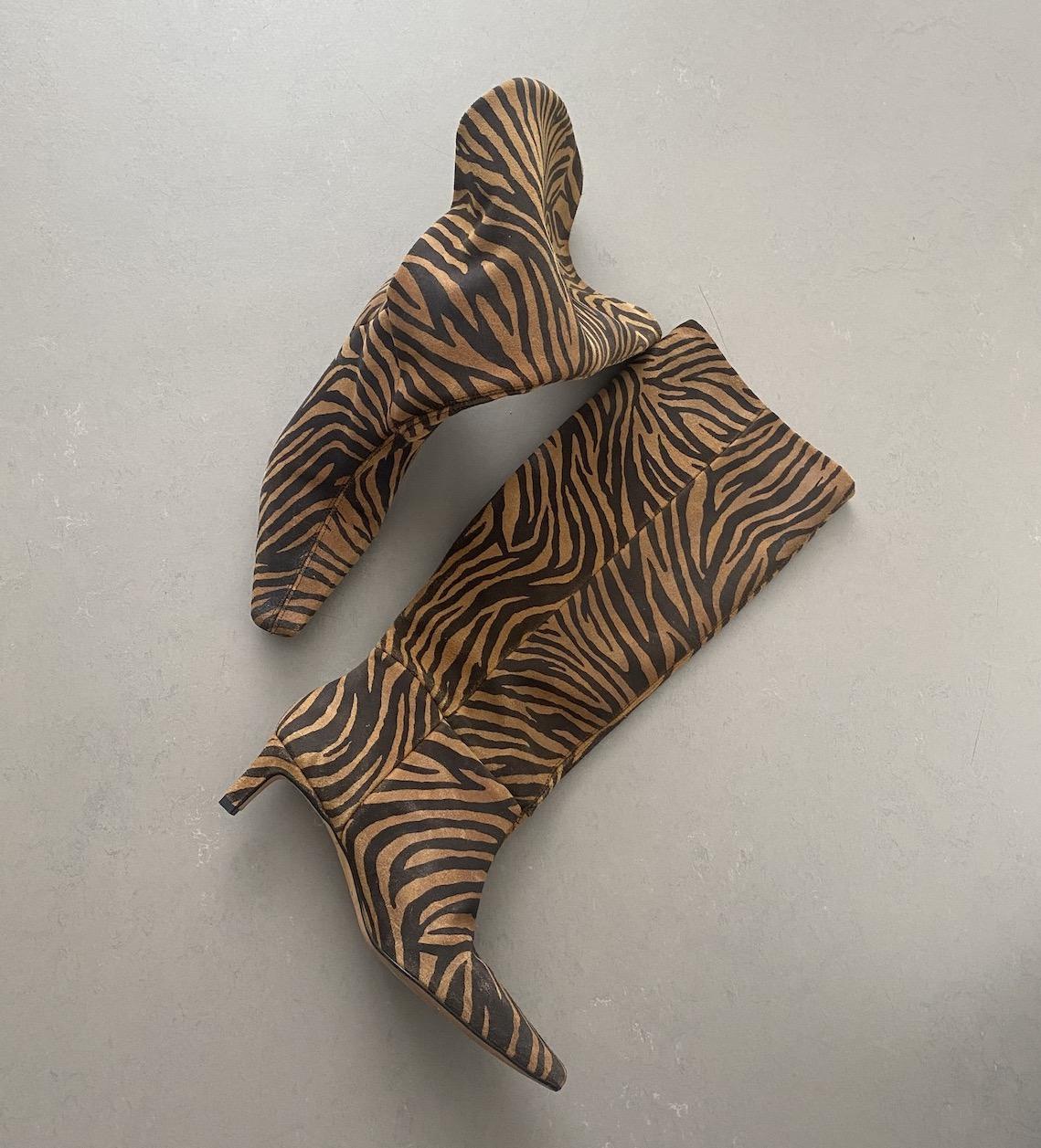Zebra Boots Was hat mich denn da geritten Modepilot